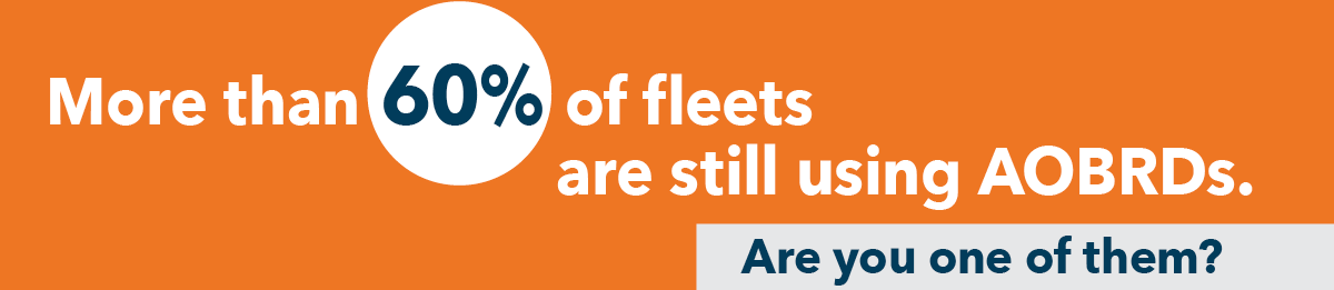 60% fleets are AOBRD